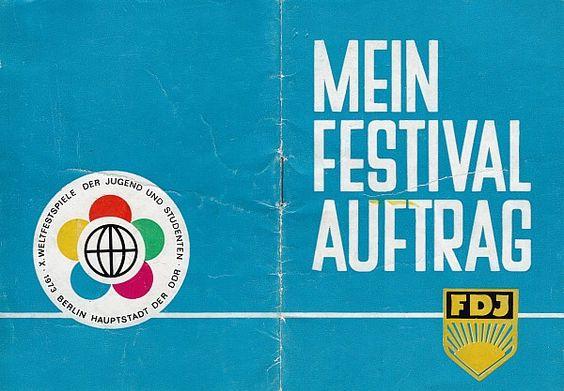 X. Weltfestspiele 1973 Verpflichtungsheft für FDJler