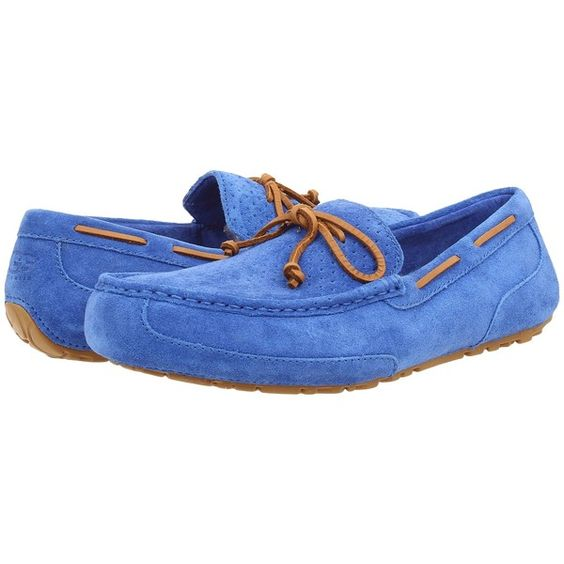 UGG Chester Perf Mens Blue Slippers