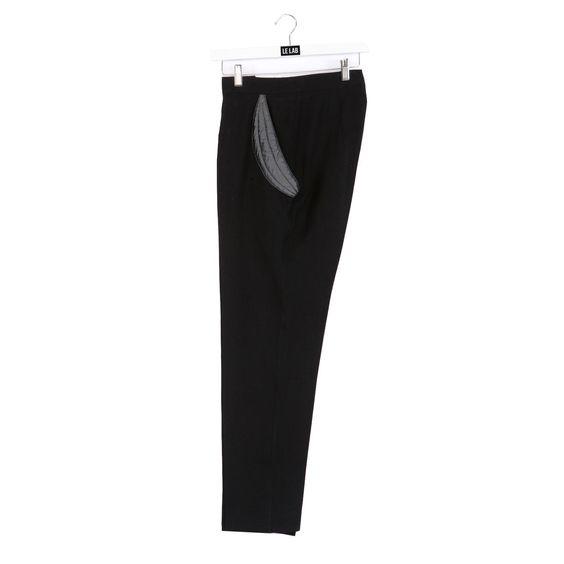 Pantalon Banane noir LEON ROSE MAGMA