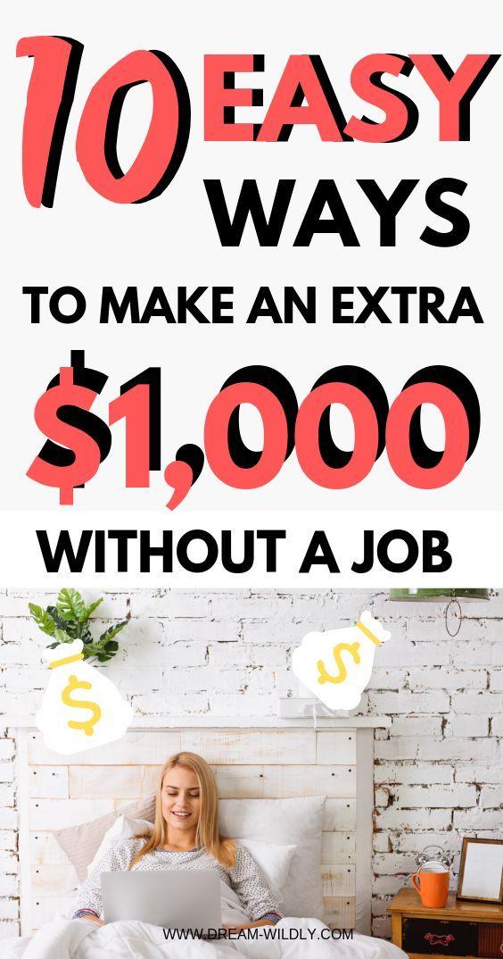 These 10 Easy Ways To Make Extra Money Are Amazing Makemoney Makemoneyonline Makeextramoney Sidehustle Extra Money Make More Money Side Money