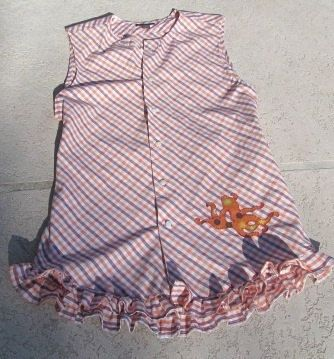 Reconstructed mans shirt to ladies beach cover up by Stitchallday, $40.00