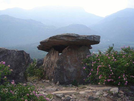 A dolmen erected by Neolithic people in Kerala, India
