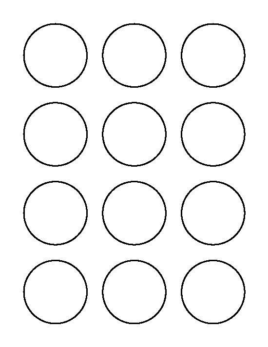 1 Inch Circle Label Template 2 Inch Circle Pattern Use The Printable Outline For Printable Circles Templates Printable Free Circle Template