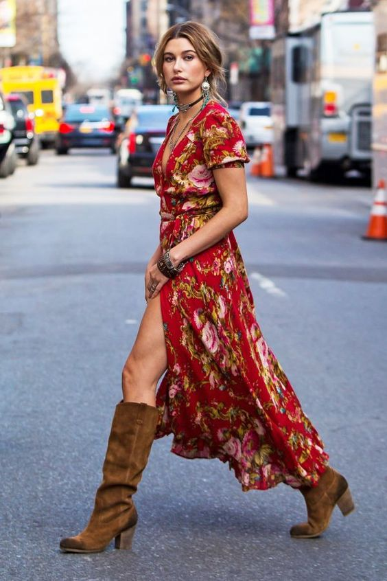 maxi dress boots 6 inch