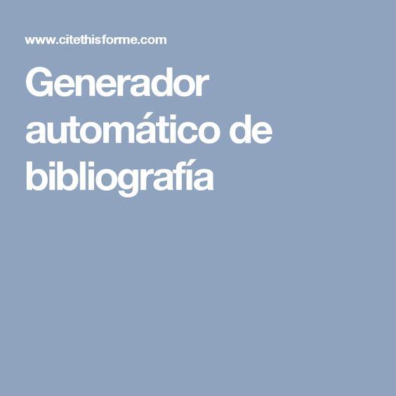 Generador automático de bibliografía