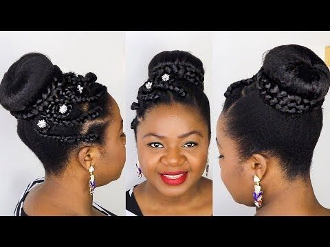 Natural Hair Bridal Hairstyles Braided Bun Special Occasions Hair Youtube Special Occasion Hairstyles Natural Hair Woman Natural Afro Hairstyles