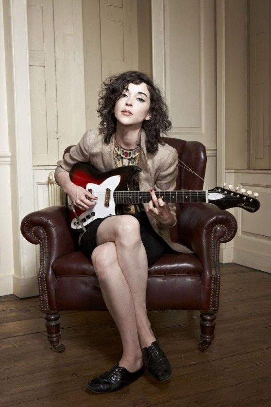 St. Vincent saying fuck you with her left hand to all the guy's that groped her when stage diving. Now that shes engaged