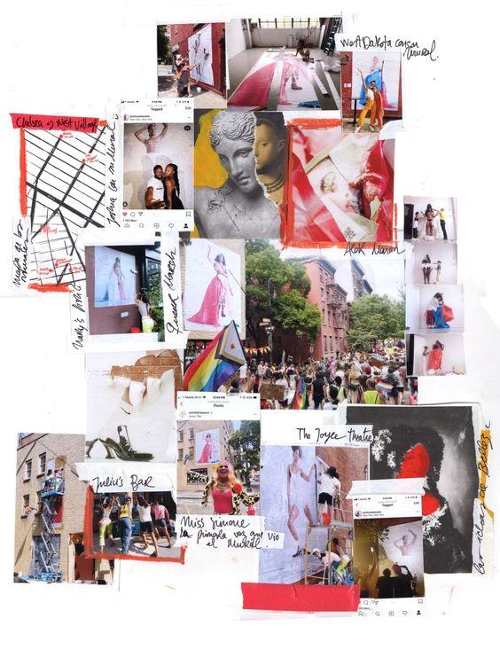 Imágenes de este proyecto: de sesiones fotográficas al empapelado de los murales y las reacciones de las personas retratadas al verse. En el centro, manifestación por los derechos queer