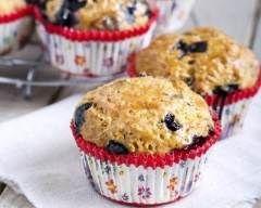 Muffins au flocons d'avoine et bleuets