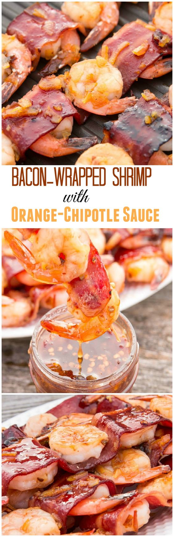 Shrimp kabobs, Bacon wrapped shrimp and Chipotle sauce on Pinterest