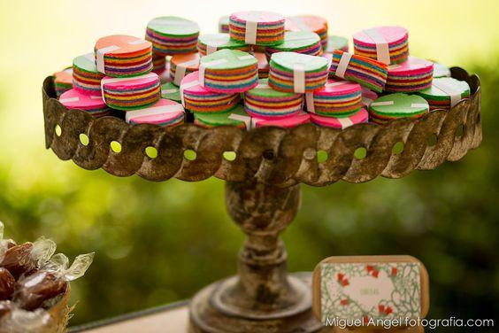 Obleas. Mesa de dulces.