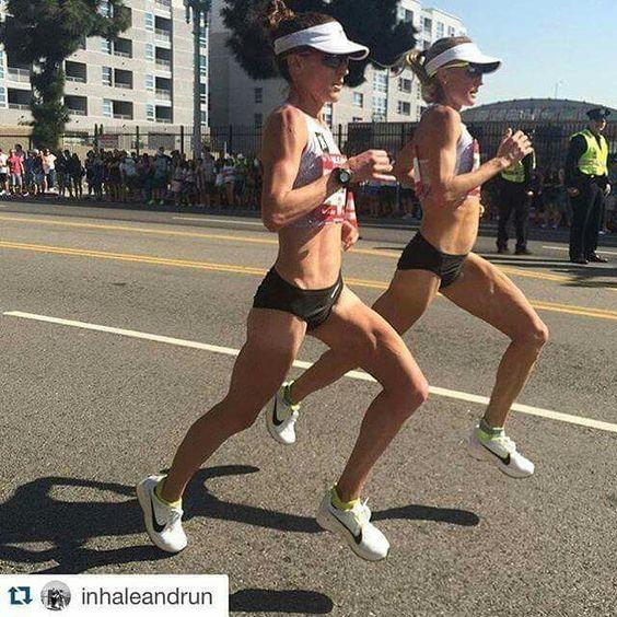 Amy Cragg and Shalane Flanagan