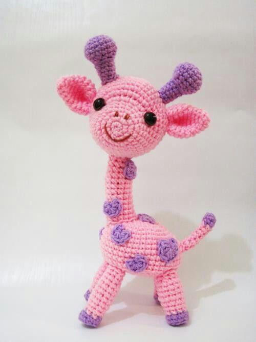 Pink giraffe amigurumi - CROCHET * amigurumi * Giraffe ...
