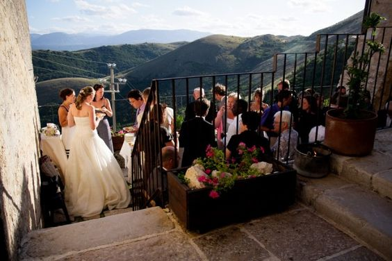 Beautiful wedding in Abruzzi, Italy (where my family is from!)