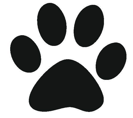 Best Photos Of Paw Print Stencil Printable Free Dog Paw Print