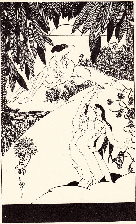 "Unknown artist. Illustrations of ""Memoirs of a Woman of Pleasure or The Life of Fanny Hill"" by John Cleland, Hoboken 1929.:"