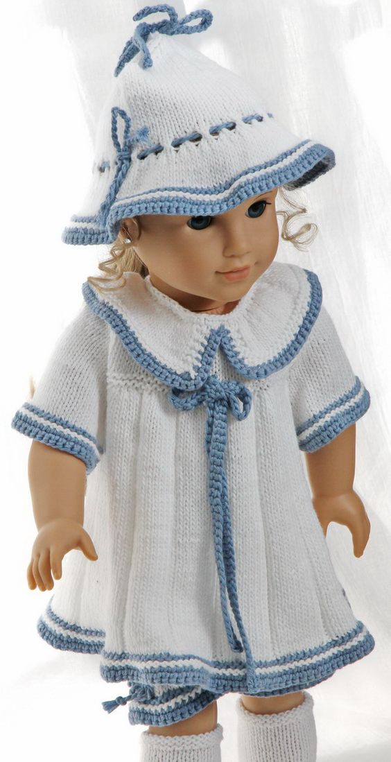 Doll dress knitting pattern