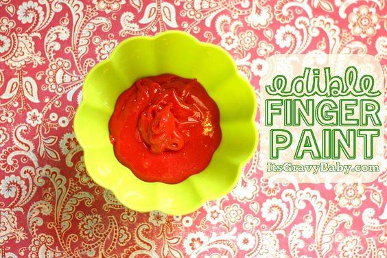 Edible finger paint!