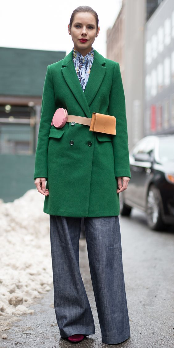 The Chicest Street Style Moments of New York Fashion Week - THE CHICEST FANNY PACK from InStyle.com: