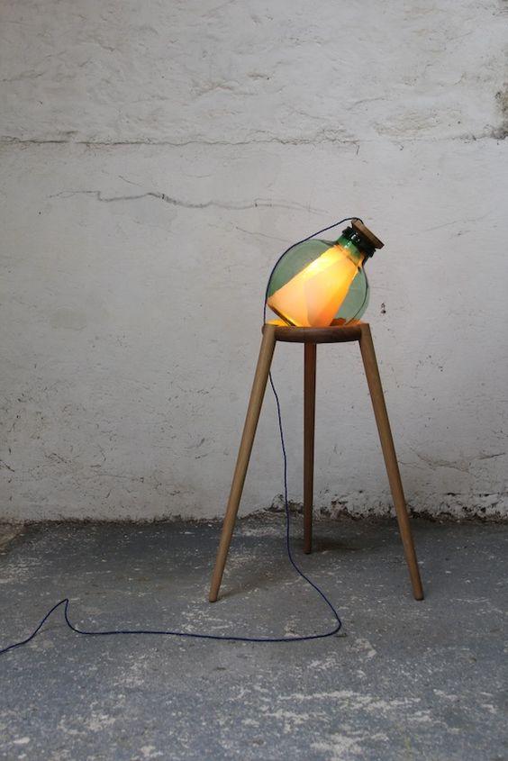 Green Carboy Lamp - Felix McCormack