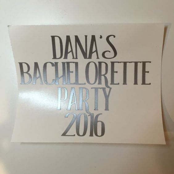 Bachelorette Weekend Decal by KenaisCrafts on Etsy
