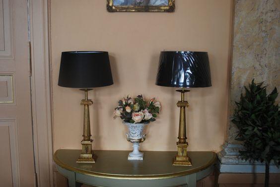 1 Paar antike Stehlampen, Tischlampen LS106 von villa-zeitlos auf DaWanda.com