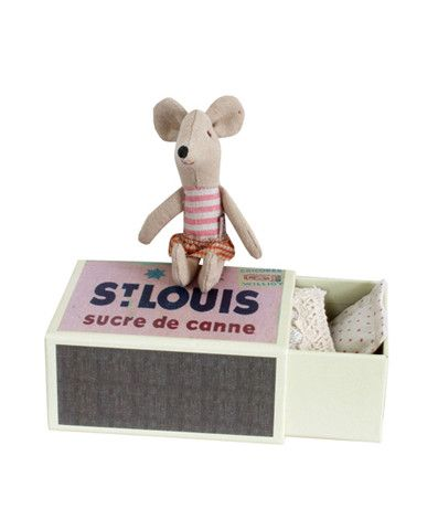 Maileg Spring Little Sister Mouse in Matchbox