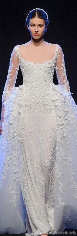 Georges Hobeika Haute Couture | F/W 2013 the moments when designers paint wonderful images to narrate their thoughts behind a design... You know an artist when you can look at their work and find a story...