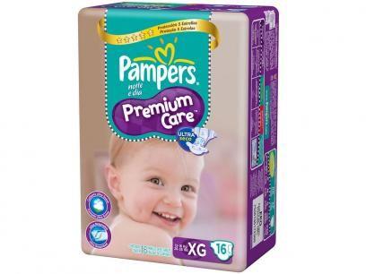 Fraldas Pampers Premium Care Pacotão XG - 16 Unidades com as melhores condições você encontra no Magazine Raimundogarcia. Confira!