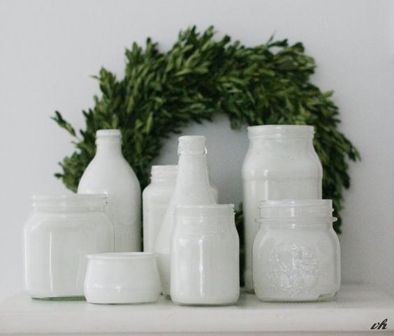 Vasen aus Gläsern