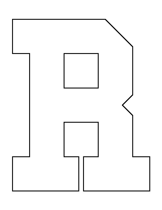 Letter R Pattern. Use The Printable Outline For Crafts ...