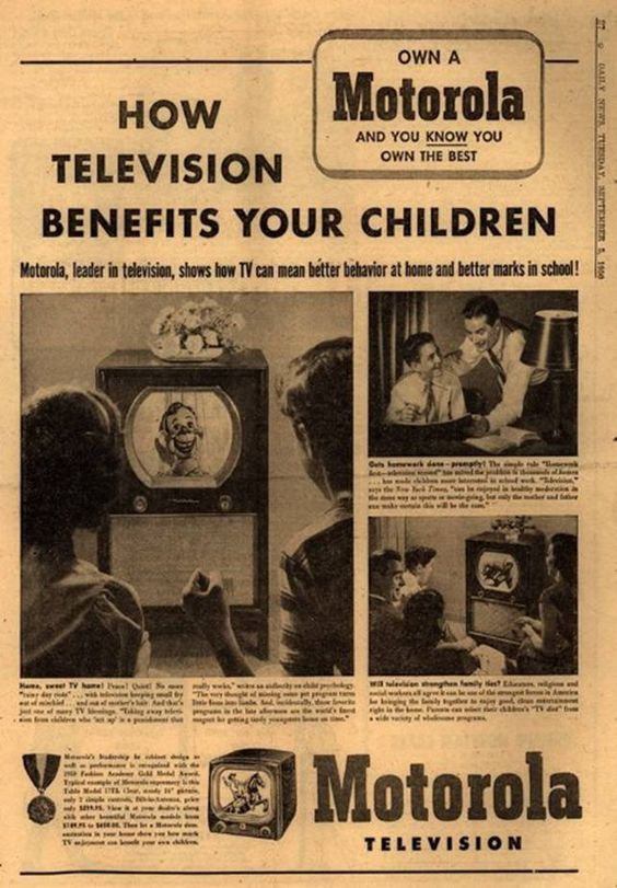 Funny Old Ads: Vintage Motorola, Motorola Television, 1950, Vintage Ads, Vintage Advertising, Vintage Advertisements