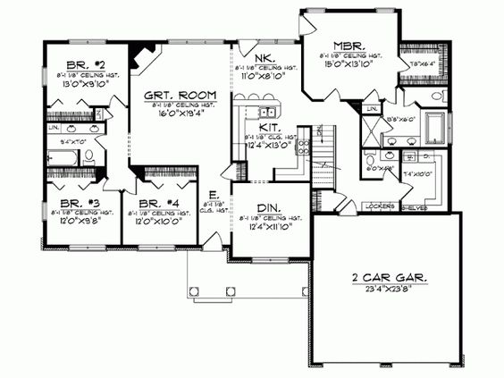 Eplans Ranch House Plan Deluxe Comfort For A Large