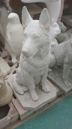 German Shepherds And Statue On Pinterest
