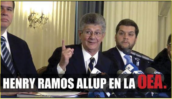 Declaraciones de Henry Ramos Allup en la OEA. OEA23J (Audio Mejorado)