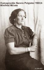 Oumagrootjie Nannie Potgier 1953/1954 Winifred McCrate
