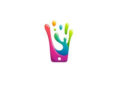Splahed Phone Logo By 7gone Logo Design Inspiration