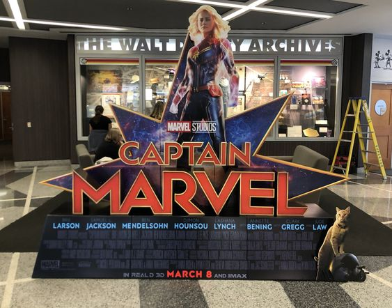 Captain Marvel is out in theaters now