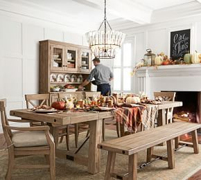 Toscana Extending Dining Table Seadrift Stylish Dining Room Dining Table With Bench Farmhouse Kitchen Tables