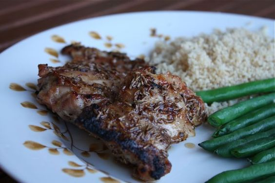 Cumin and Agave Grilled Chicken Thighs