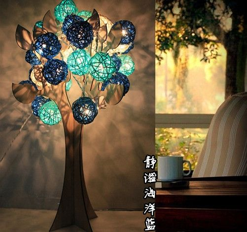 20 pcs Balls 3m ocean blue Ikea lamp diy ball lights hanging string light lanterns holiday ...