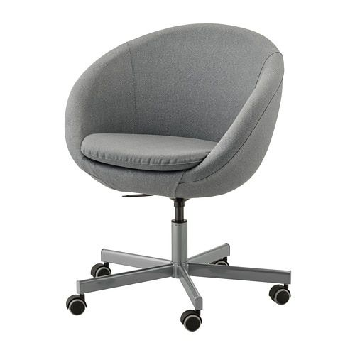 Skruvsta Swivel Chair Flackarp Medium Grey In 2020 Swivel Chair Cheap Desk Chairs Modern Desk Chair