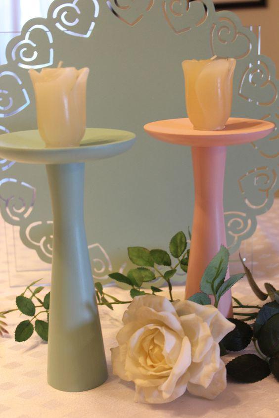 candelabros em mdf