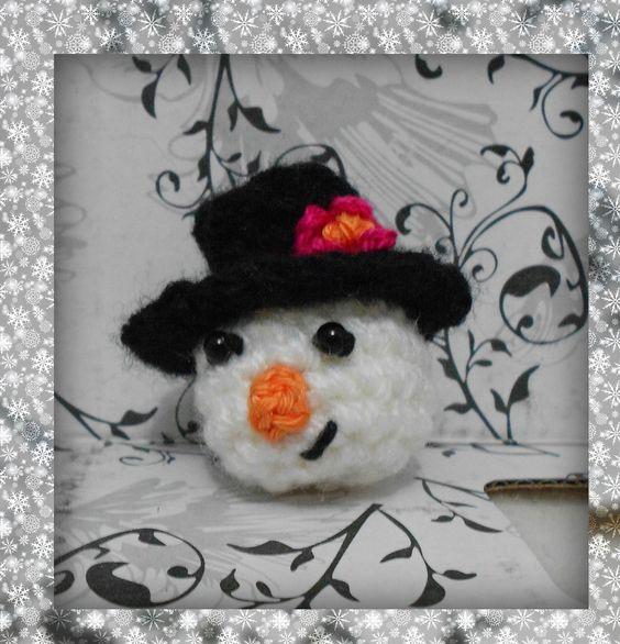 Boneco de neve Amigurumi