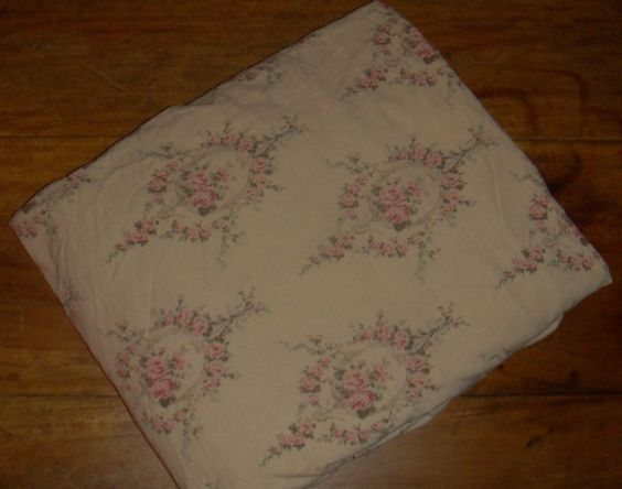 Ralph Lauren Trianon Floral King Fitted Sheet Super RARE Beige Floral EUC #RalphLauren #FrenchCountry