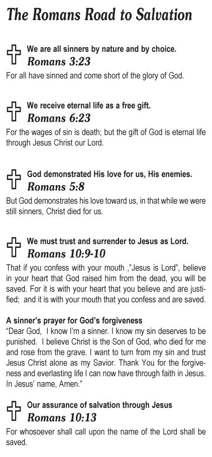 Teen Missions International   The Romans Road To Salvation