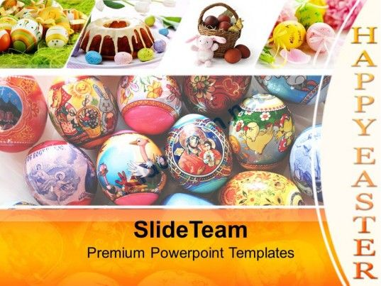 Easter Eggs With Excellent Design Powerpoint Templates Ppt Themes - easter powerpoint template