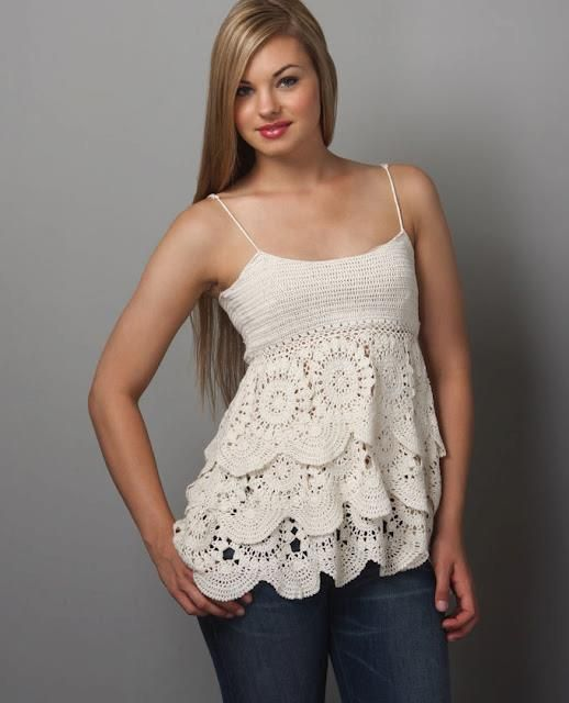 Crochet tank top--Spanish graph: