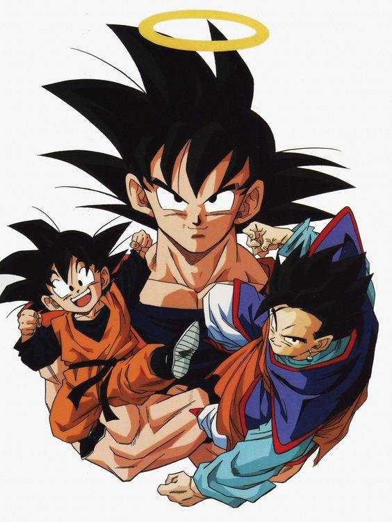 Goku, Gohan, and Goten