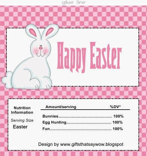 Gifts that say wow cute easter bunny candy bar wrapper for gifts that say wow cute easter bunny candy bar wrapper for easter baskets or egg hunt prizes free printable candy wrappers pinterest candy bar negle Gallery